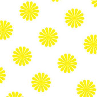 노란 국화 꽃 벽지