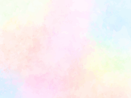 Soft rainbow watercolor background (pink)