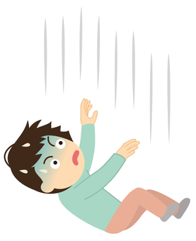 Illustration of a falling person [male / falling]