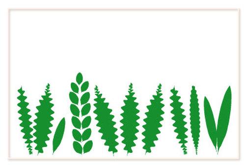 Green leaf multipurpose card