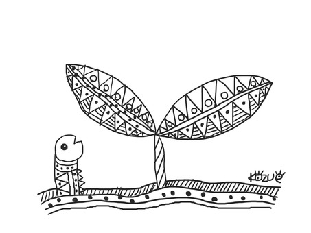 Buds and caterpillars