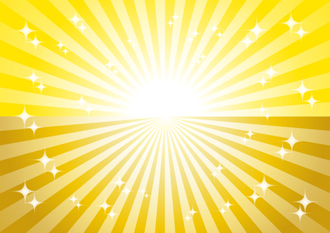 Yellow and golden radial glitter background material