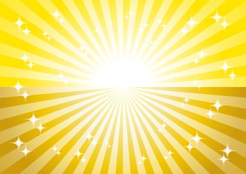 노란색과 금색 광선 반짝 배경 소재