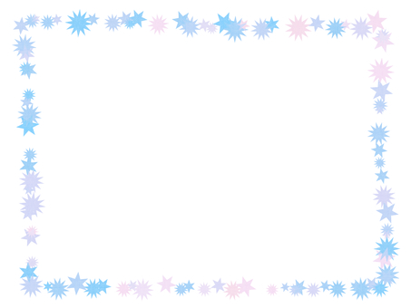 Simple star frame (light blue)