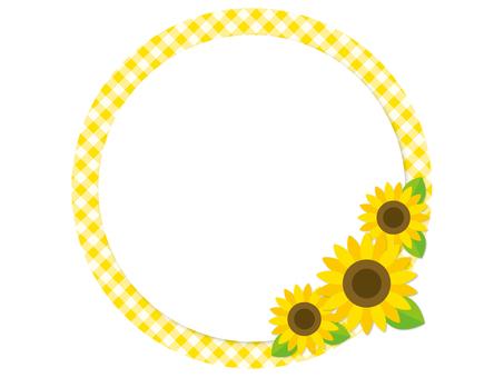 Sunflower round frame