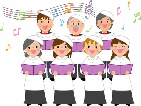 音楽イラスト 教会混声合唱