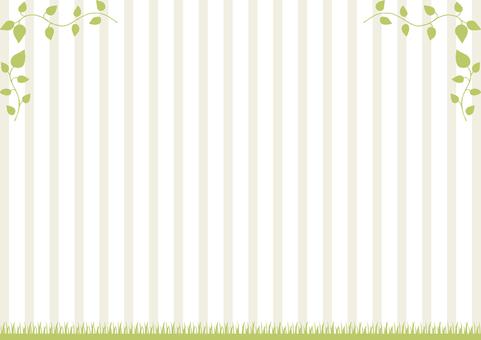 Leaf turf frame stripe background