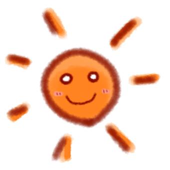 The sun like a cute picture book