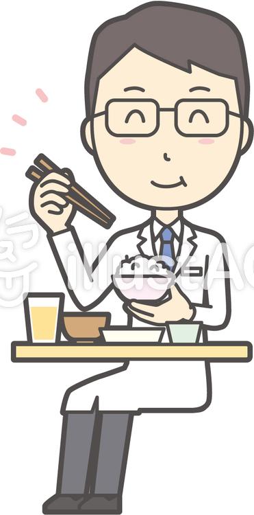 医師青年眼鏡-023-全身のイラスト