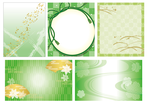 5 green backgrounds