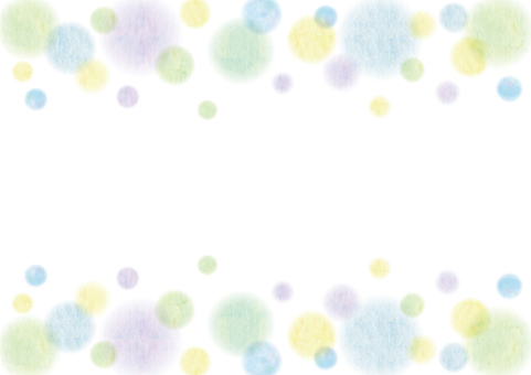 Watercolor _ polka dots _ frame