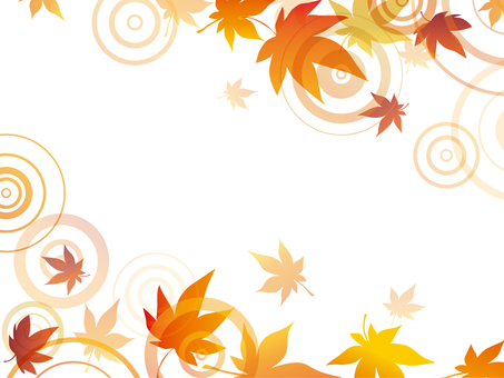 Autumnal leaves ripple frame 2