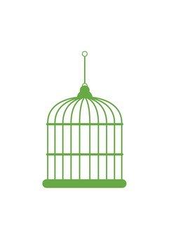Cage basket (green)