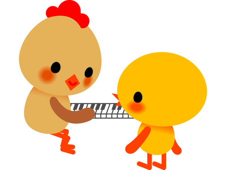 Chick and piano
