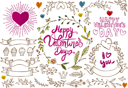 A hand-painted frame that you can use with Valentine