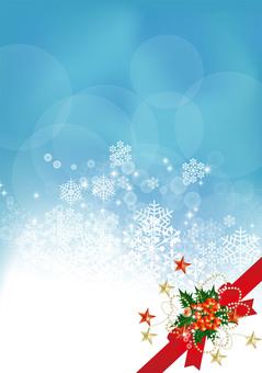 Snow Crystal & Ribbon 2