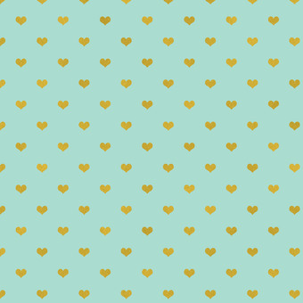 민트 하트 패턴