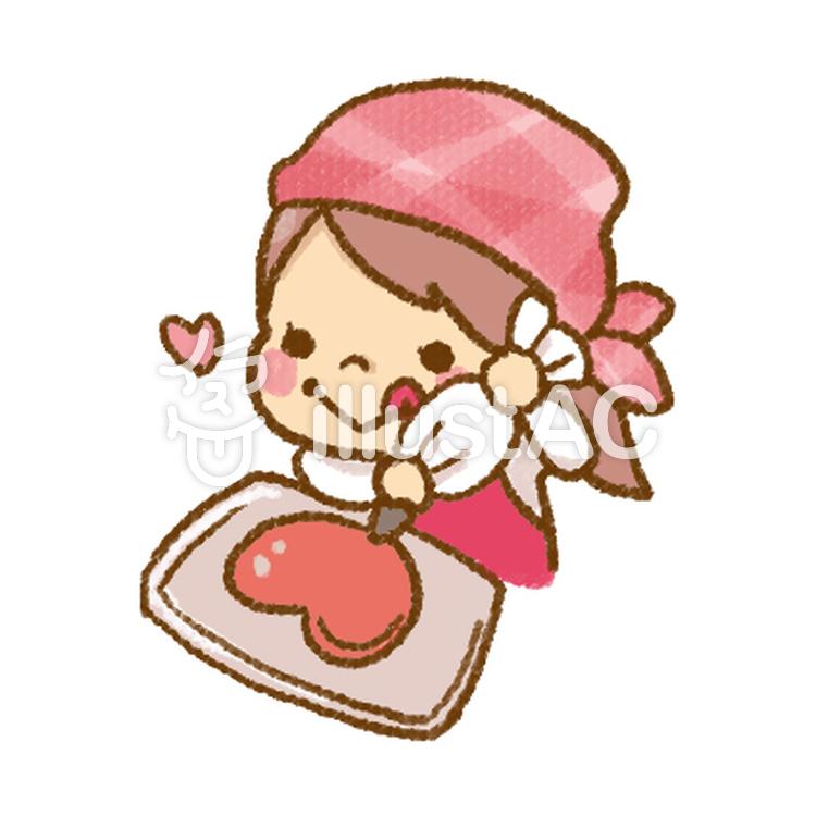 お菓子作りをする女の子イラスト No 1018151無料イラストなら
