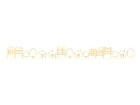 City street line yellow