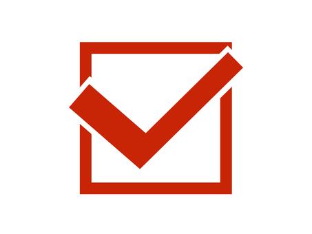 Check check box Square red