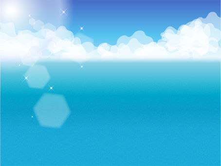 Summer sky and sea background