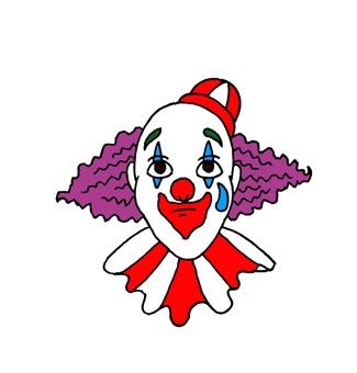 Clown of tears makeup