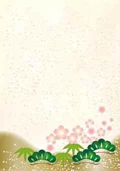 New Year Pattern Shochiku Mei 2