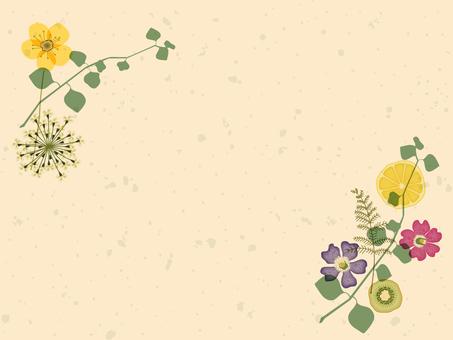 card_ pressed flower