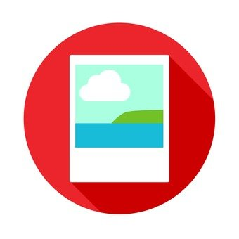 Flat icon - photo