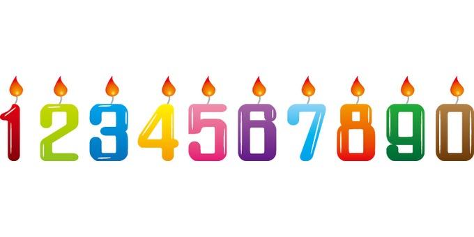 Numerals Candles