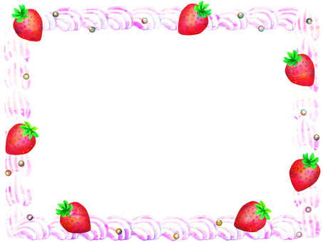 Cake decoration like frame
