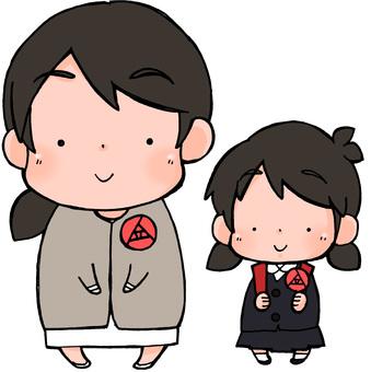 入学式・卒業式 母親と娘
