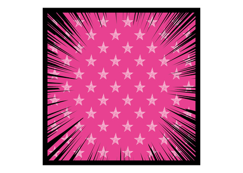 Concentration line _ star _ pink