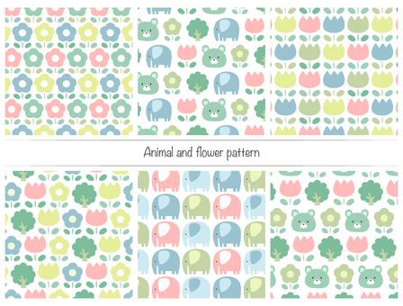 Animal and flower pattern