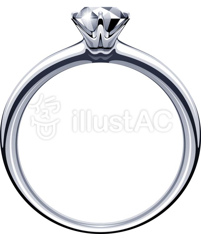 エンゲージリング ダイヤ 婚約指輪イラスト No 1229899無料イラスト