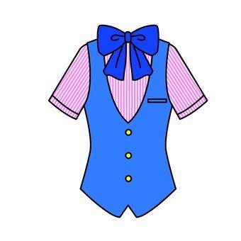 Uniform with ribbon