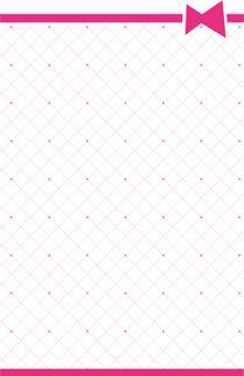 Ribbon and check background Pink