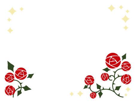 Retro rose frame 1-1