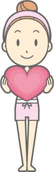 Female underwear a - Heart - whole body