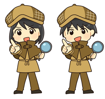 【Work】 Detective (pointing)