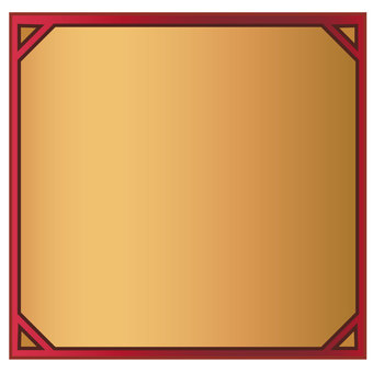Red frame vector with squares