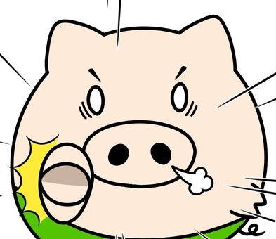 Oink pointing out strongly