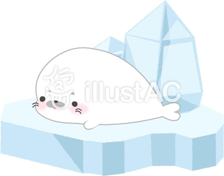 流氷とアザラシイラスト No 885551無料イラストならイラストac