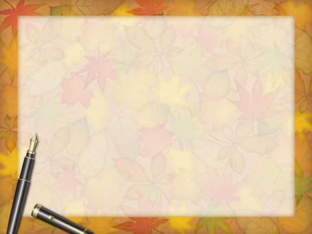 Autumn leaves and fountain pens
