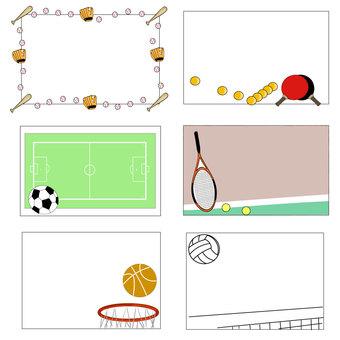 Sports - decorative frame
