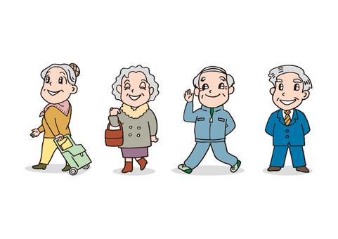 4 명의 노인