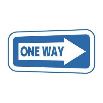 One way signage