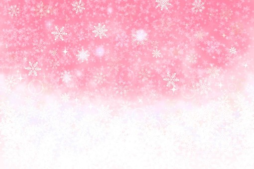 Snow background peach
