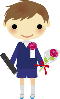 Boy of graduation ceremony