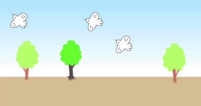 나무와 새 배경